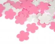 פרח סול ורוד לבן קטן