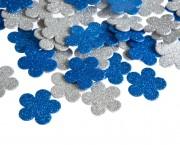 פרח סול נוצץ כחול לבן קטן