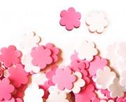 פרח סול ורוד לבן בינוני