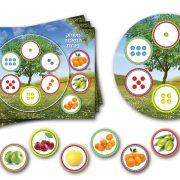 משחק התאמה פירות – 36 ילדים