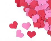 לב אדום ורוד קטן