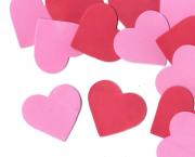לב ורוד אדום גדול