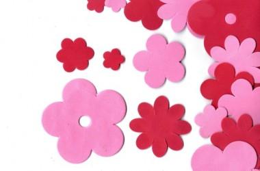 מיקס פרחים אדום ורוד