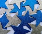 כוכב נוצץ גדול כחול לבן