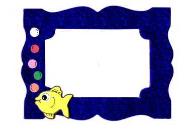 מסגרת כחול