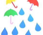 חיתוכי מפל מטריה וטיפות