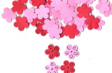 פרח קטן אדום ורוד