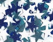 כוכב נוצץ בינוני כחול לבן