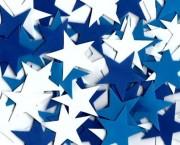 כוכב סול בינוני כחול לבן