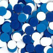 """עיגול סול קוטר 2.5 ס""""מ כחול לבן"""