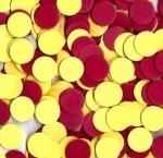 """עיגול סול קוטר 2.5 ס""""מ אדום צהוב"""
