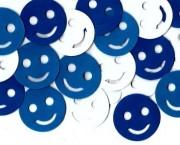 סמיילי כחול לבן