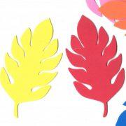 עלה טרופי גדול – צבעוני