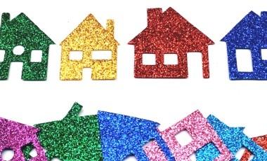 בתים קטנים נוצץ
