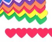 שרשרת לבבות צבעוני