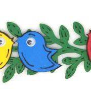 ציפור שיר וענף של זית